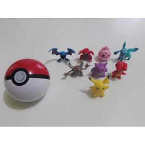 Kit Brinquedo 1 Pokebola + 10 Pokemons Aleatórios
