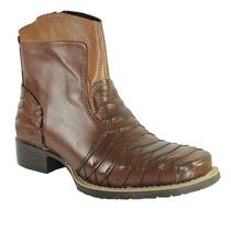 Botina Palma Boots Couro Wisky 0609