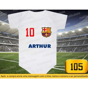 Camiseta Neymar Barcelona - Bodies de Bebê no Mercado Livre Brasil 2a297e420f1