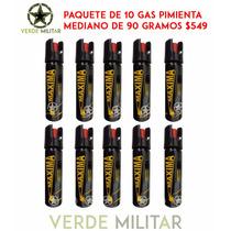 Gas Pimienta Lacrimogeno 90 Grms Paquete De 10 Piezas $599