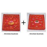Kit Com 2 Almofadas (puff) Quadradas Para Meditação