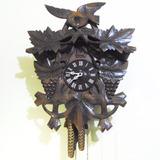 Antigo Relógio Cuco H De Parede Modelo Cacho De Uva Grande