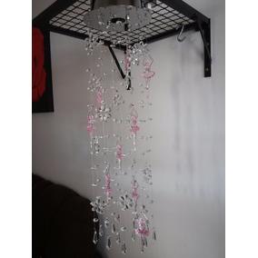 Lustres De Cristal Bailarina Flores E Pirulito 65 Cm