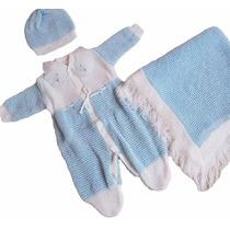2 Un Saída Maternidade Luxo Bebê Enxoval Batizado Trico Baby