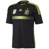 Camisa Espanha adidas Preta Away Copa 2014