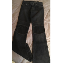 Pantalón Jeans Ossira Tiro Bajo, Semi Oxford Diseño Muy Orig