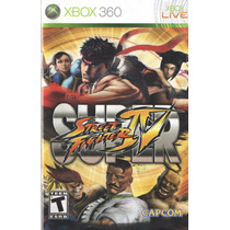 Manual De Instrucoes Super Street Fighter 4-xbox360/original
