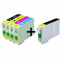 Kit Cartuchos Impressora Tx135 Tx133 Tx123 T25 + 01 Preto