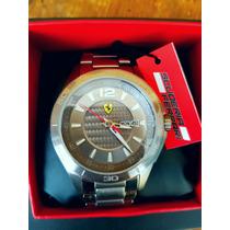 Hermoso Reloj Scuderia Ferrari Acero Original Fechador