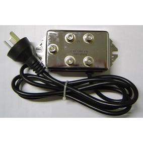 Booster Amplificador Antena 4 Salidas Tv Color 5 Db Garmath