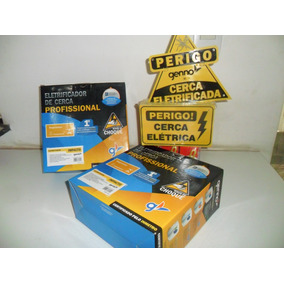 Kit Cerca Eletrica100 Mts Alarme+controle+discadora Gsm