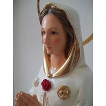 Imagem Nossa Senhora Rosa Mística 55cm Calcário Resinado