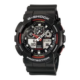 Relogio Masculino G-shock Ga-100-1a4dr Digital Analogico