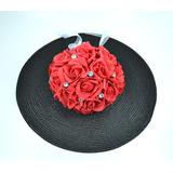 Buquê Noiva Bouquet Rosa Vermelha Flor Artificial Casamento