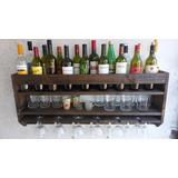 Bodega Estante Repisa Bodeguero Para Vinos Doble Copero