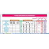 Planilha De Cotação Em Excel Para Compras Nos Supermercados