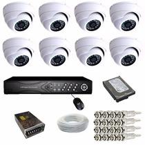 Sistema Monitoramento Residencial 8 Câmeras Dvr Completo