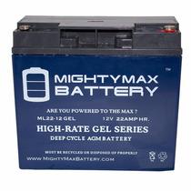 12v 22ah Bateria Gel Recargable Ciclado Profundo Agm