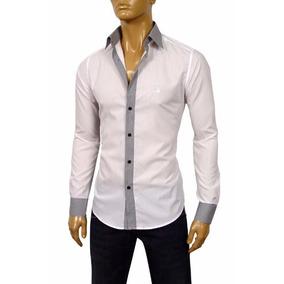 Camisa Armani Collezioni Talle S Xxl 100% Algodon Italy