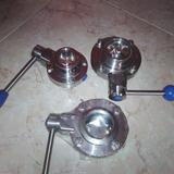 Valvula De Acero Inoxidable Tipo Clamp 1 1/2 Pulgada, 2