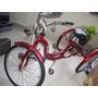 Bicicleta De Tres Ruedas Color Rojo Tamaño 26 Grande