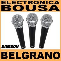Micrófonos Samson R21 Set De 3 Vocales Con Pipeta Y Estuche
