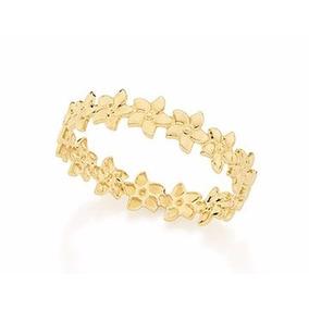 Anel Com Aro Formado Por Flores Folhe Ouro Rommanel 512318