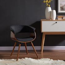 Holt Mid-century Modern Fabric And Bent Wood Silla De Diseño