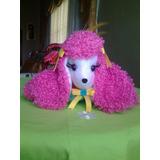 Peluche Almohada Perritas Poodle De 17cm