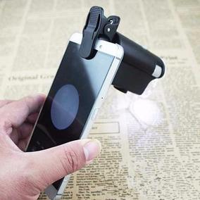 Lupa Clip Microscopio Zoom 60x 100x Led Universal Celulares