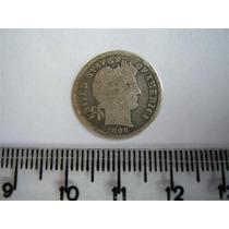 Rb2420 - Estados Unidos Usa Moeda Prata Dime 10 Cents 1898
