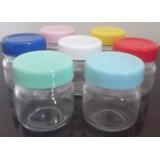 10 Potinhos De Vidro Papinha 40g Redondo Tampa De Plástico