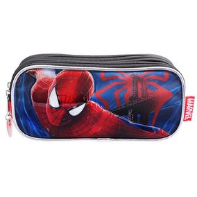 Lapicera Estuche Escolar Spiderman Hombre Araña Ruz 88112