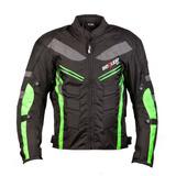 Chaqueta Protección Moto Motociclista Impermeable Verde - S