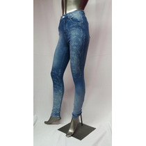 Pantalon Jean Mujer Elastizado Chupin Con Flores Cod 1944
