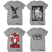 Kit 10 Camisa Camisetas Bandas De Rock Para Lojista Revenda