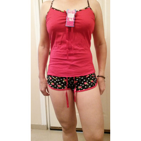 Pijama Yashira Fresita 2 Piezas Tipo Short Made In Colombia