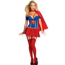 Disfraz Dama Super Woman Halloween Fiestas Mujer Maravilla
