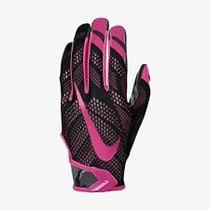 Guantes Football Nike Vapor Knit Edición Cancer Rosas,