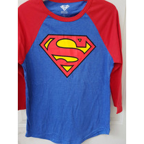 Playera Superman Raglan Hot Topic Original
