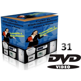 Curso 31 Dvds Vídeo Manutenção De Eletrodomésticos