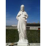 Sagrado Corazon De Jesus , Imagen De Yeso Para Pintar 65cm