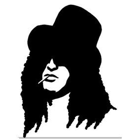 Adesivo Guns N Roses Slash Rock Heavy Metal Vintage 12x8cm