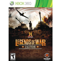 History Legends Of War: Patton - Xbox 360 - Ntsc - Lacrado
