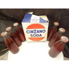 Goya Lote De 6 Botellas De Cinzano Soda Llenas Caja Original
