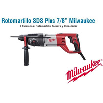 Rotomartillo Sds Plus Milwaukee 7/8 7 Amp Envio Gratis En 3