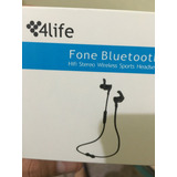 4life - Fone Stereo Bluetooth Wireless Sports P/ Corrida