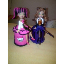 Monster High + Torta Falsa..( Porcelana Fria) Adorno Torta