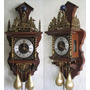 Reloj Wubba Pared Madera Cuerda Antiguo Holanda