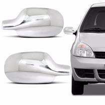 Capa Retrovisor Cromada Renault Clio Scenic Megane 06 A 12